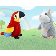 Pachet jucarii interactive, Hamster si Papagal vorbitor