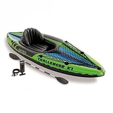 Canoe Gonflabila INTEX Challenger K1, Set Complet