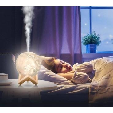Lampa de veghe cu umidificator si aromaterapie, cadou ulei esential