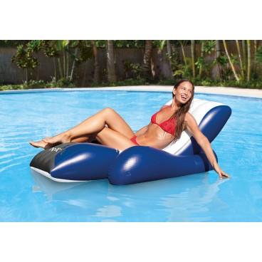 Sezlong gonflabil Intex pentru piscina Lounge White/Blue