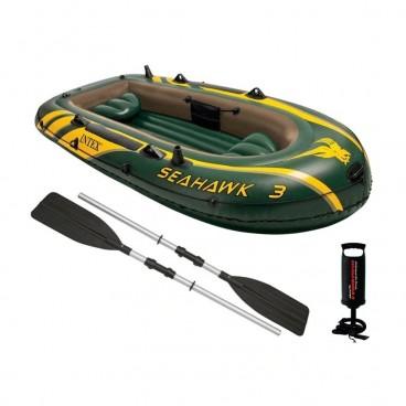 Set Barca Gonflabila 68380 Seahawk 3, pentru 3 Persoane