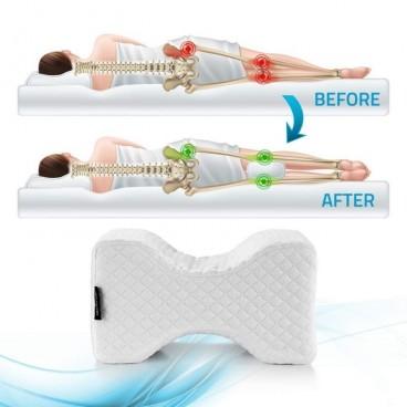 Perna ortopedica din spuma cu memorie pentru genunchi